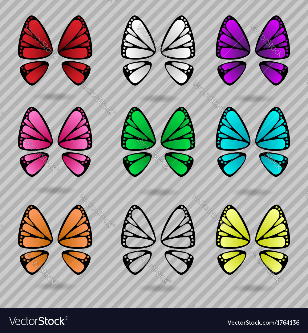 Butterfly wings collection vector | Price: 1 Credit (USD $1)