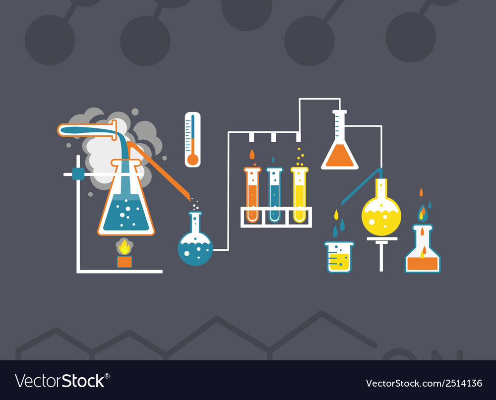 Chemistry infographics template vector | Price: 1 Credit (USD $1)