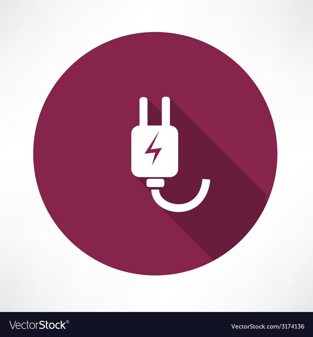 Electricity piug icon vector | Price: 1 Credit (USD $1)