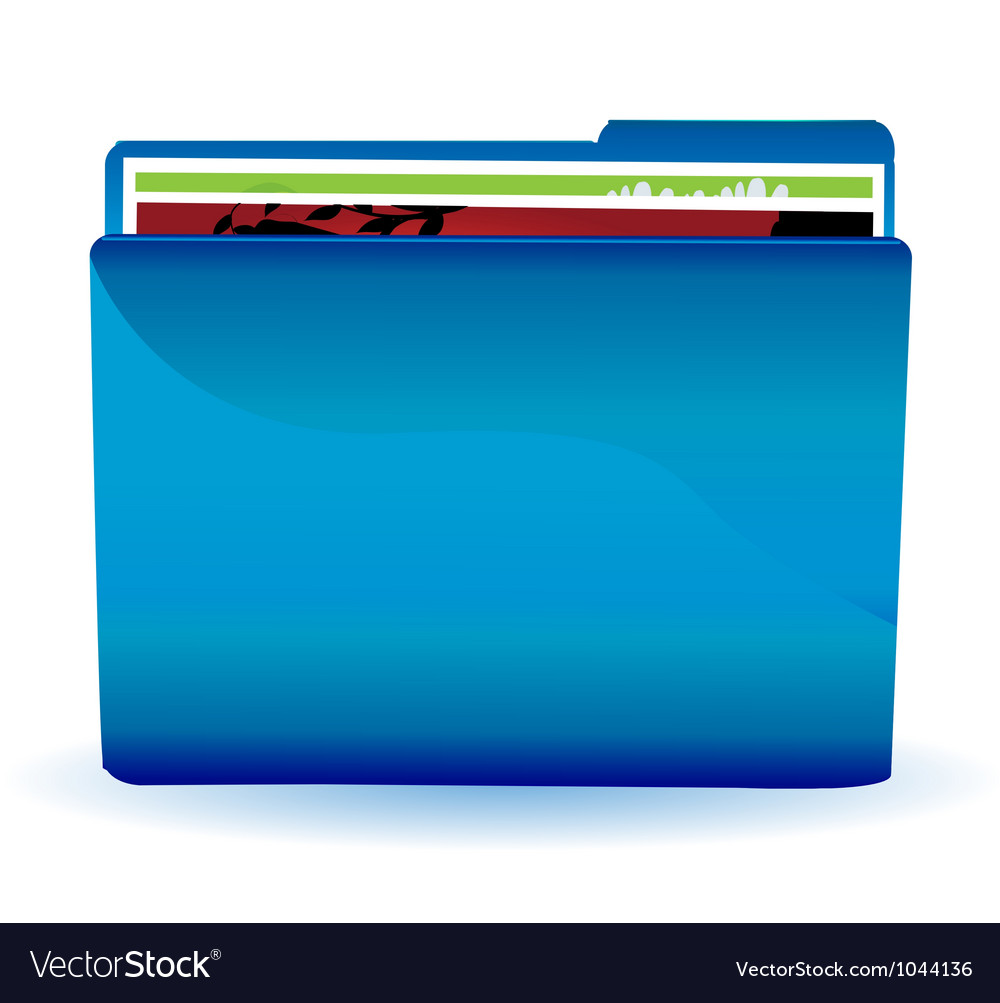 File folder icon vector | Price: 1 Credit (USD $1)