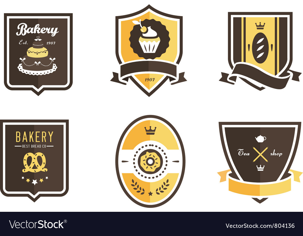 Food emblems vector | Price: 3 Credit (USD $3)