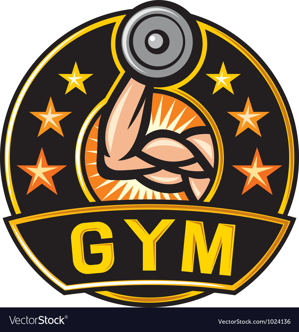 Gym label vector | Price: 3 Credit (USD $3)