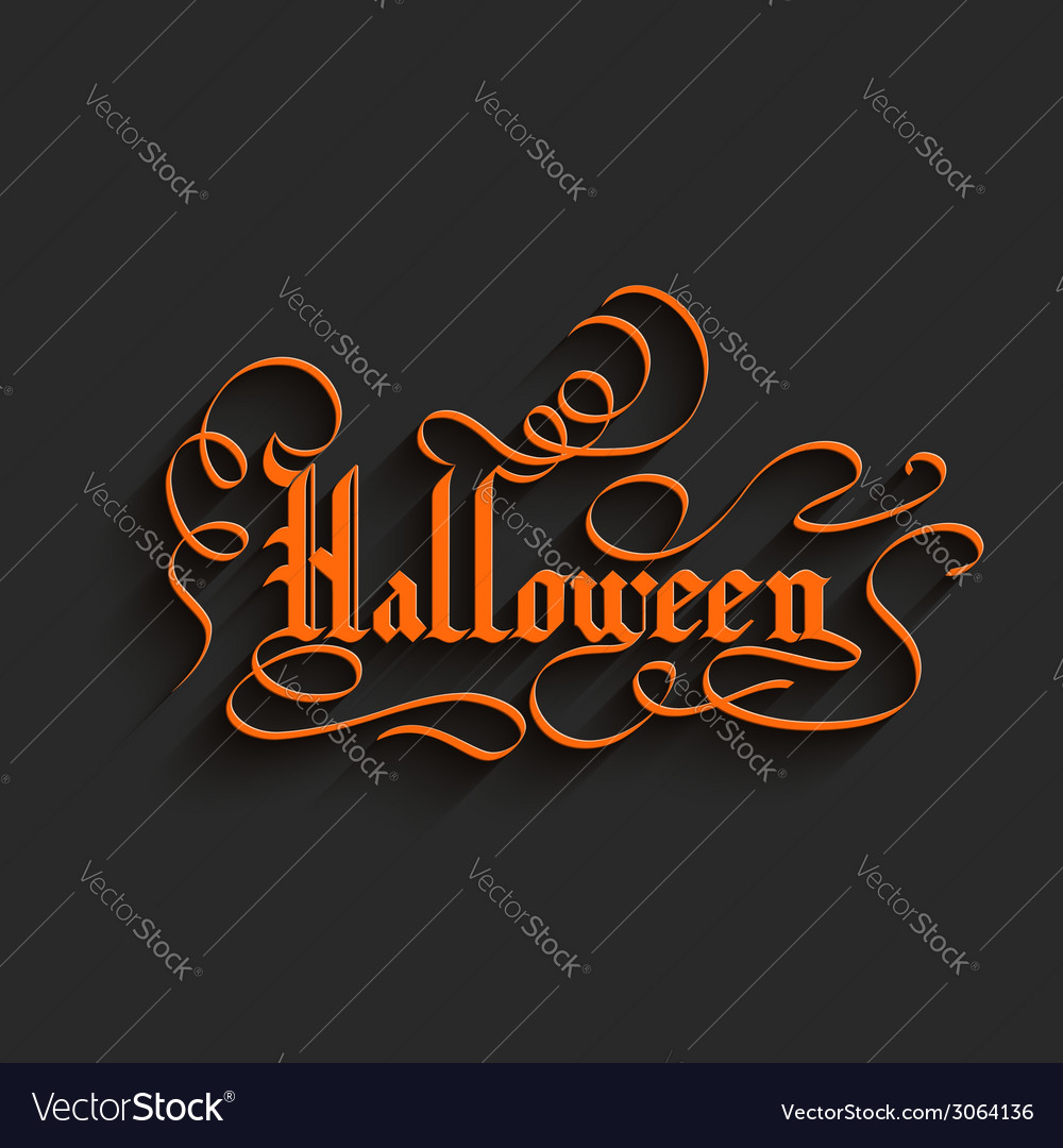 Halloween lettering greeting card vector   Price: 1 Credit (USD $1)