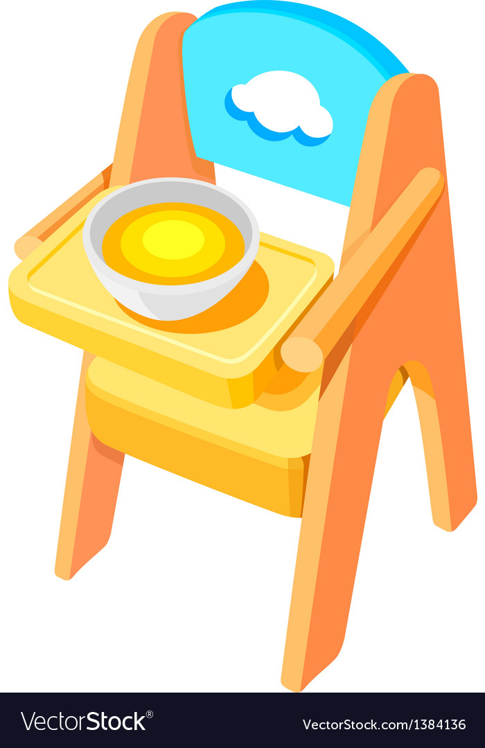 Icon baby chair vector | Price: 1 Credit (USD $1)
