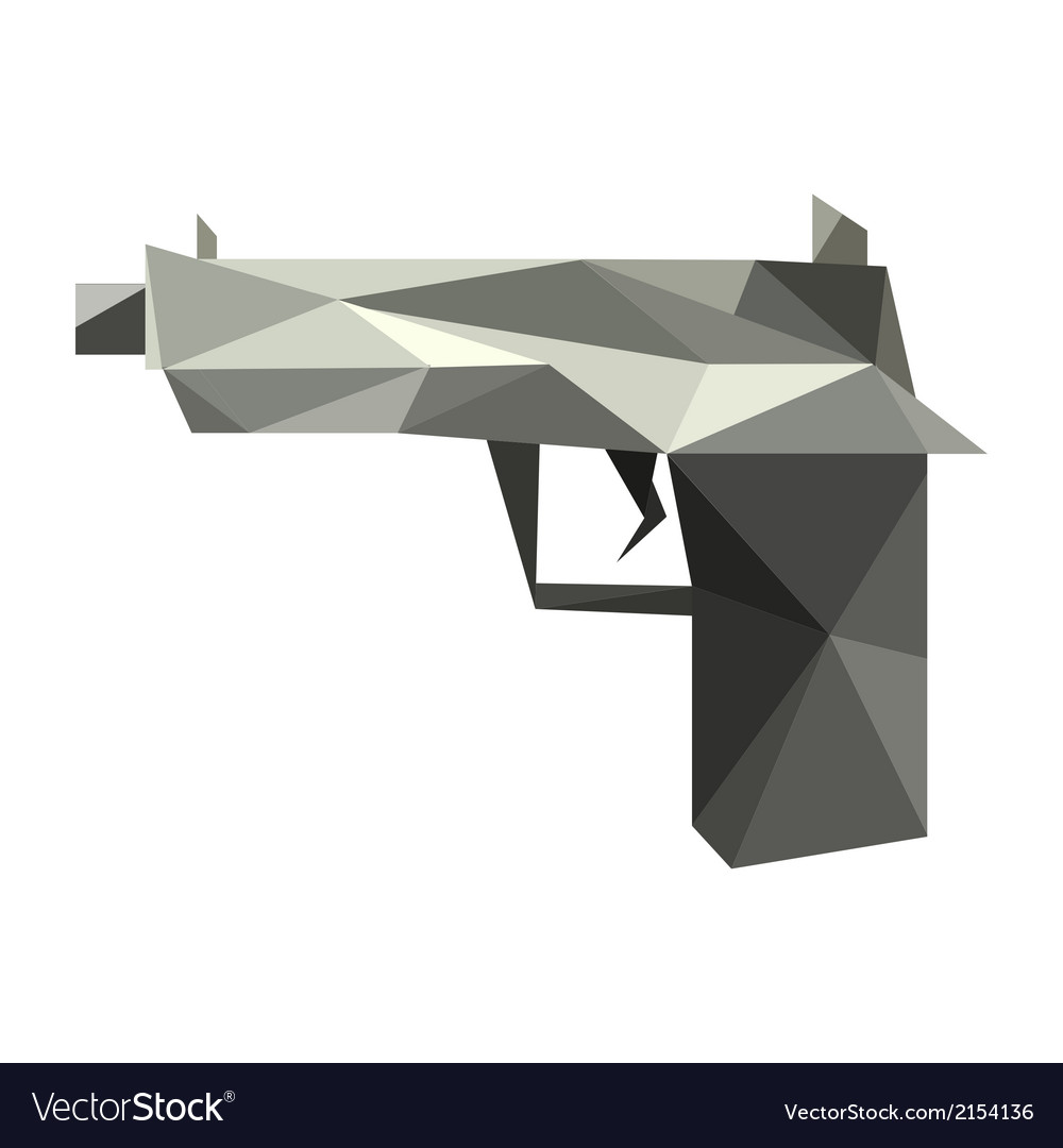 Origami gun vector | Price: 1 Credit (USD $1)