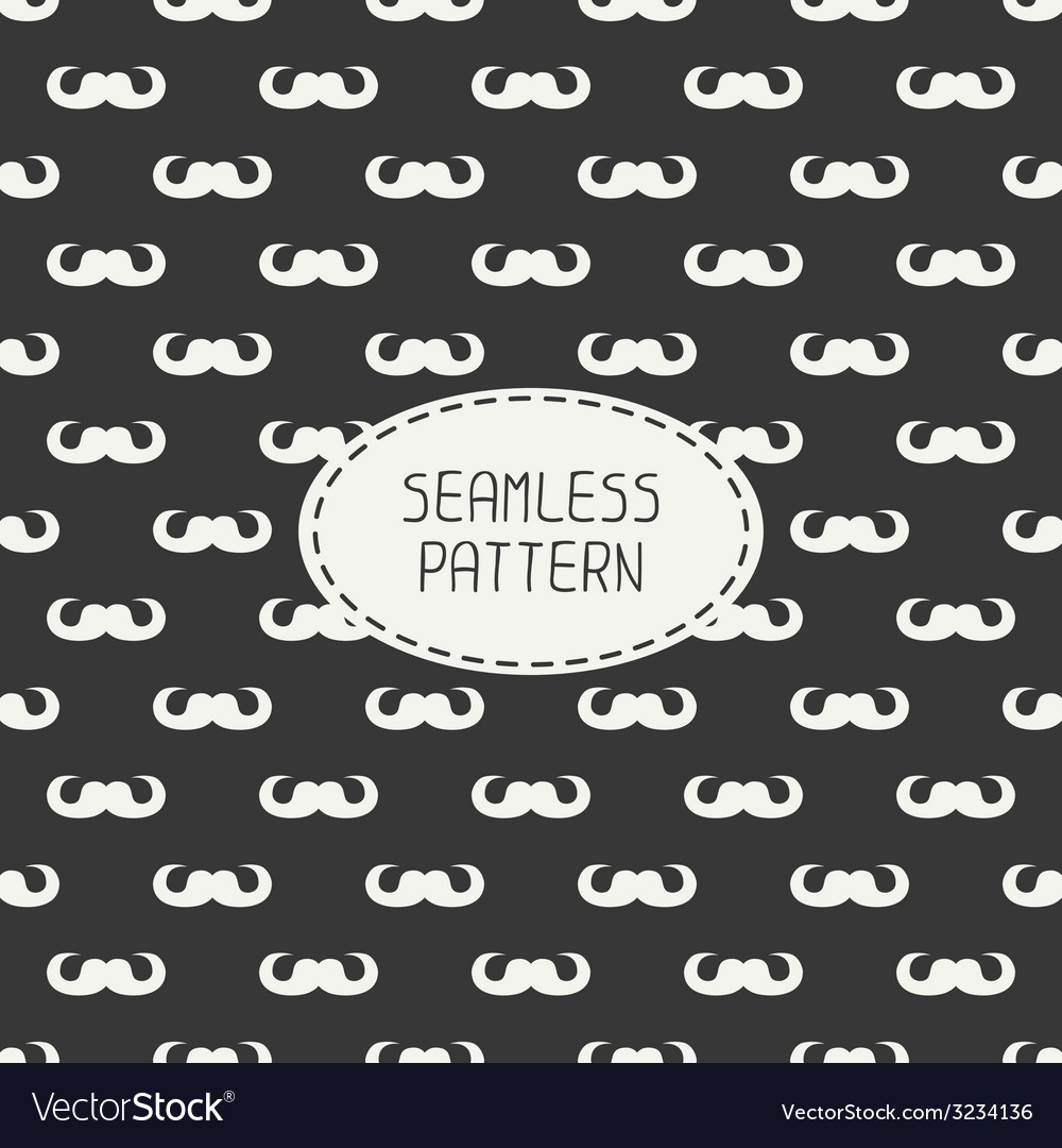 Seamless retro pattern with curly vintage hipster vector | Price: 1 Credit (USD $1)