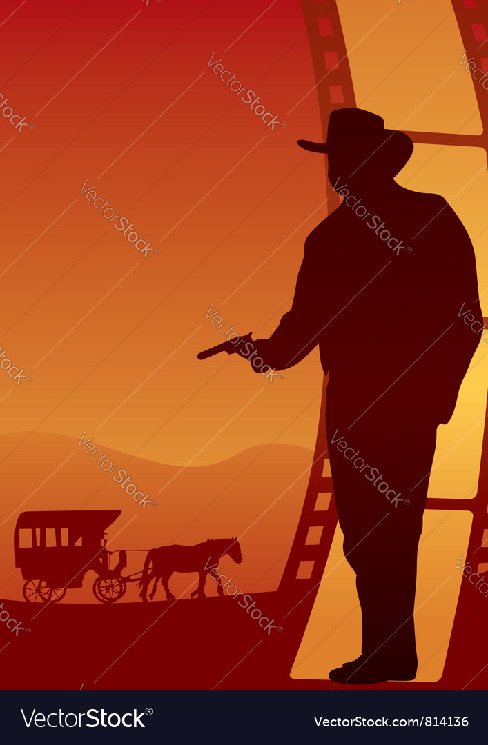 Western poster vector | Price: 1 Credit (USD $1)