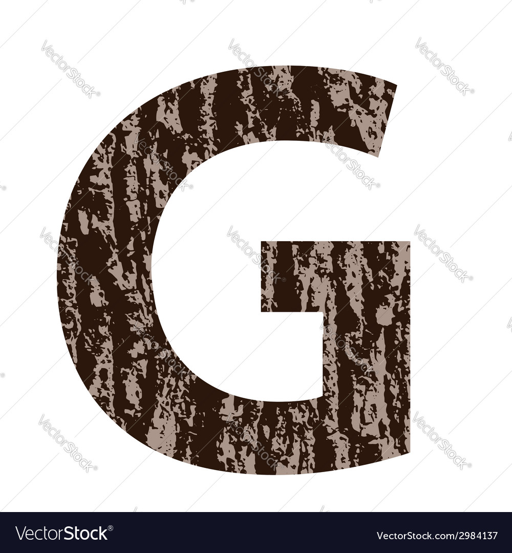 Bark letter g vector | Price: 1 Credit (USD $1)