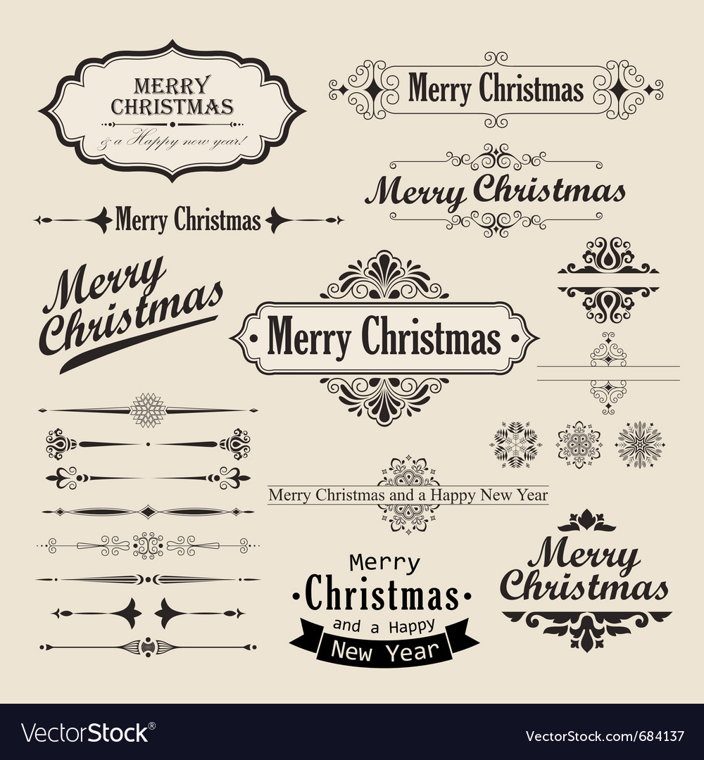 Christmas vintage design vector | Price: 1 Credit (USD $1)