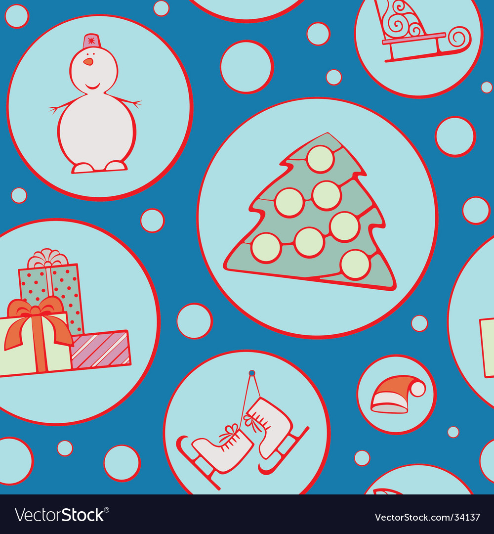 Christmas wrapping paper vector | Price: 1 Credit (USD $1)