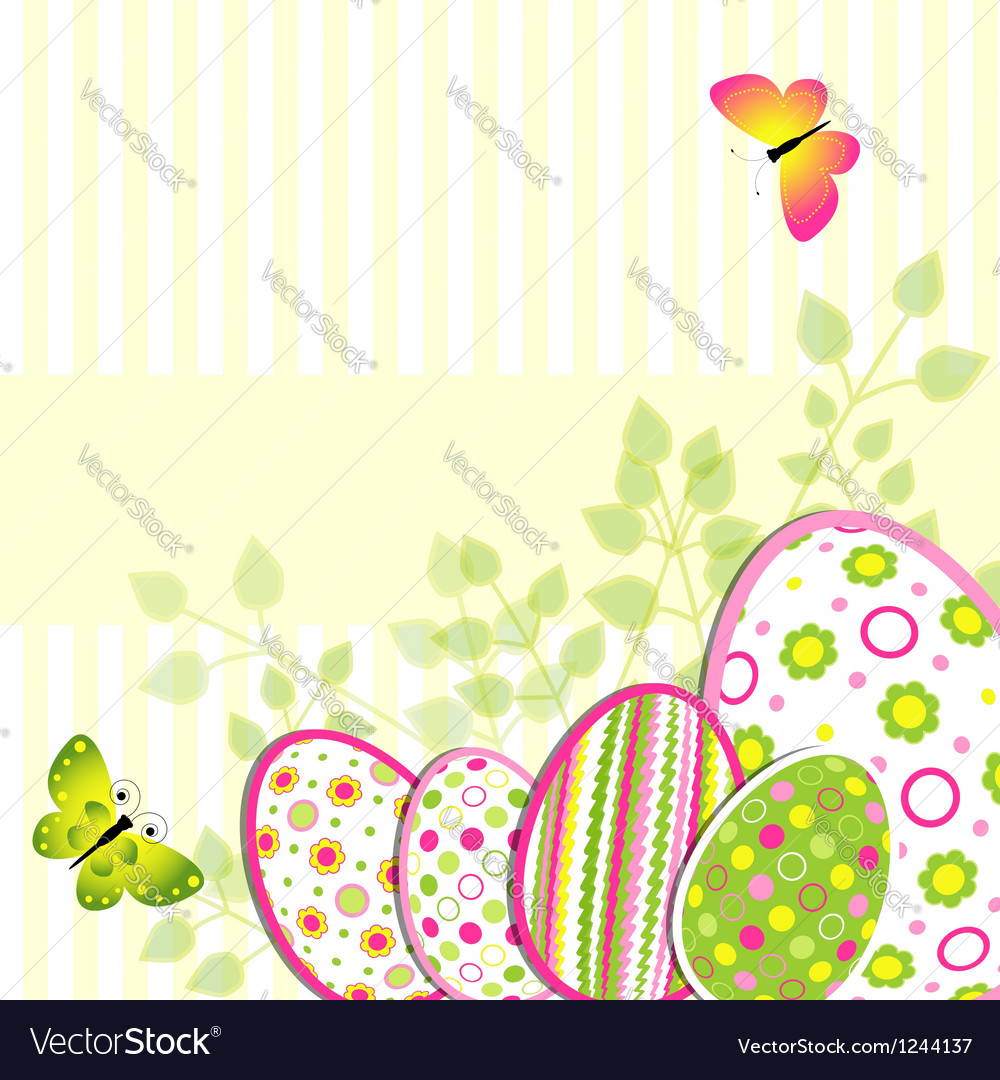 Colorful easter holiday greeting card vector | Price: 1 Credit (USD $1)