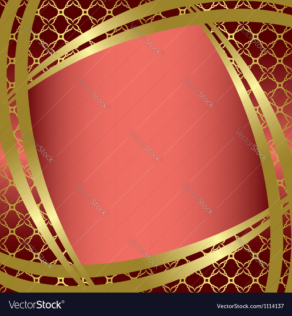 Golden frame with center gradient vector | Price: 1 Credit (USD $1)
