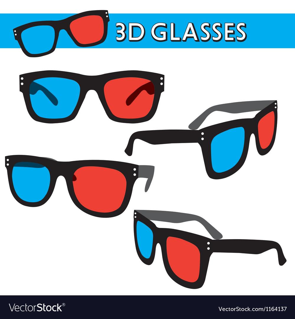 Graphic of retro 3d glasses vector | Price: 1 Credit (USD $1)