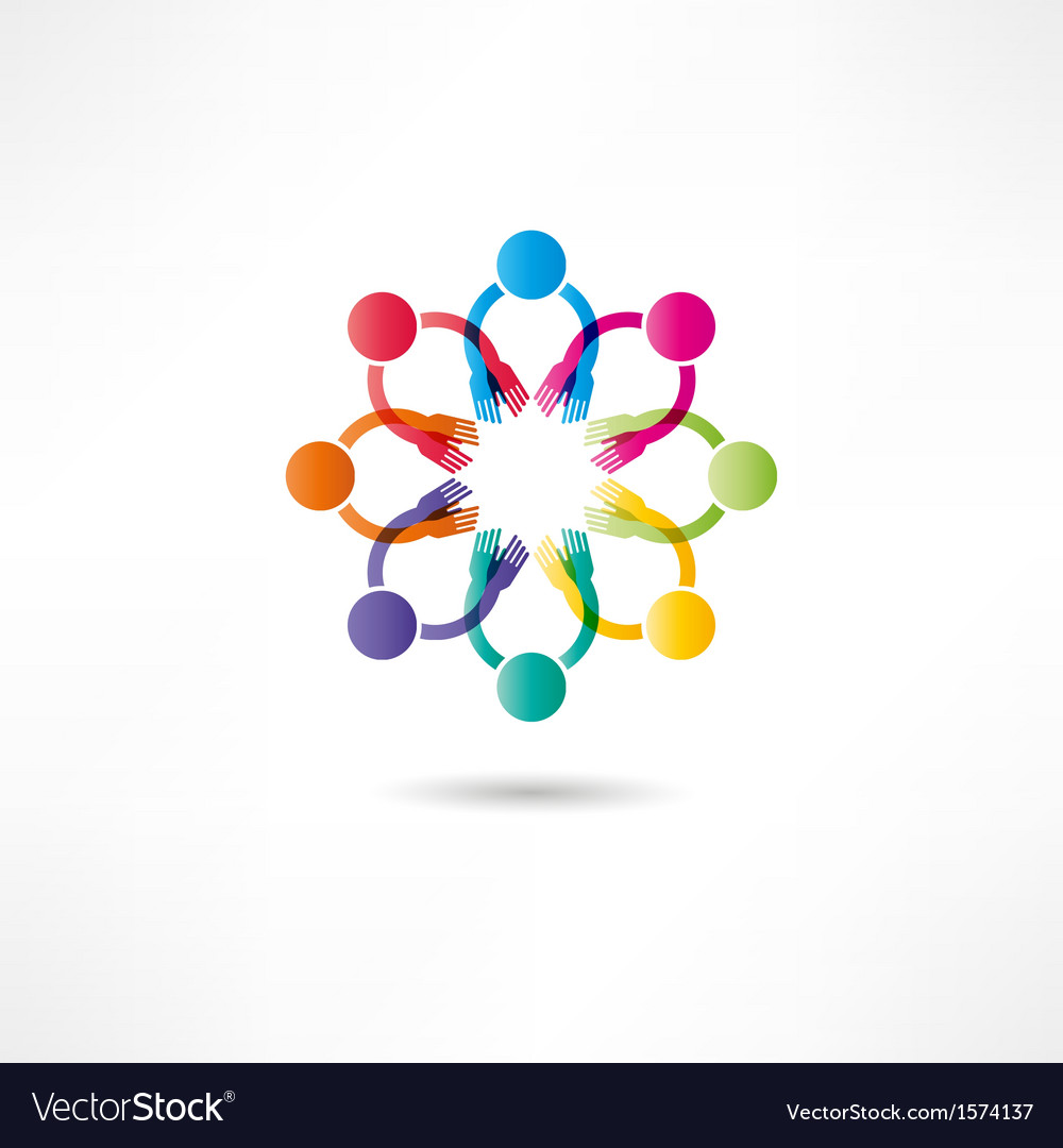 Hands connecting icon vector | Price: 1 Credit (USD $1)