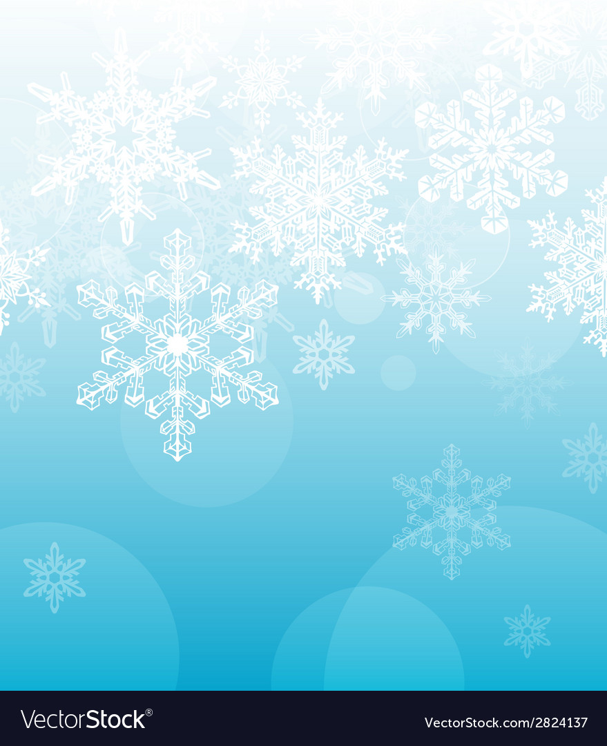 Light blue snowflake background vector | Price: 1 Credit (USD $1)