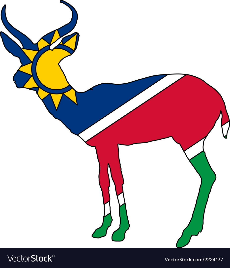 Namibia antelope vector | Price: 1 Credit (USD $1)