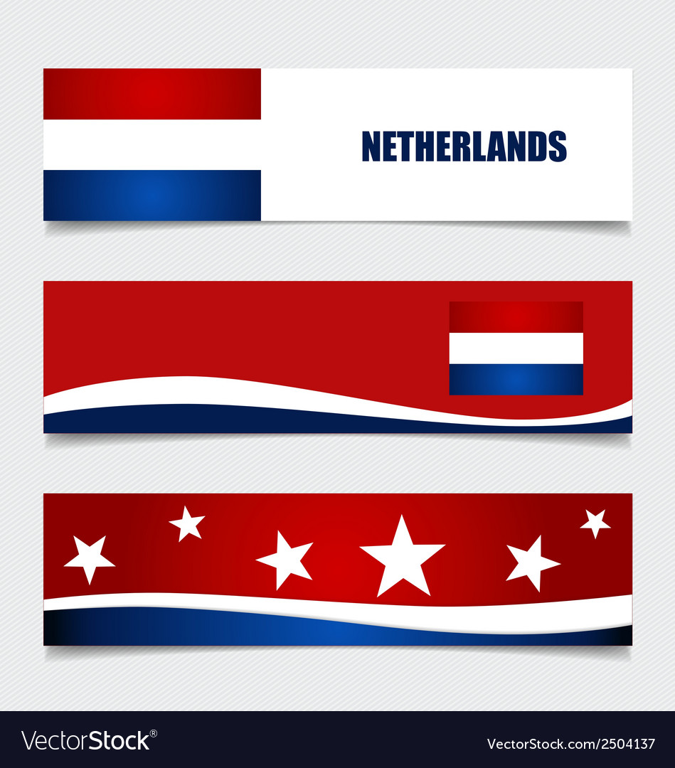 Netherlands flags concept design vector | Price: 1 Credit (USD $1)