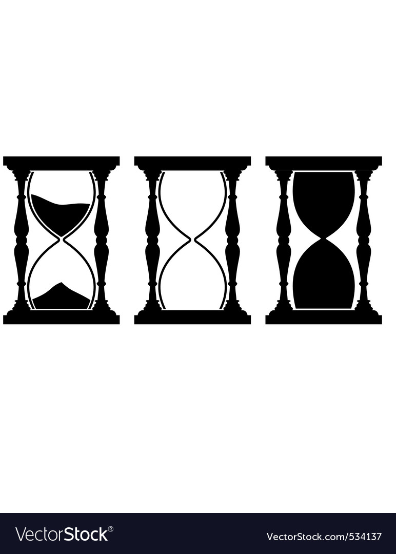Set of sand hourglass vector | Price: 1 Credit (USD $1)