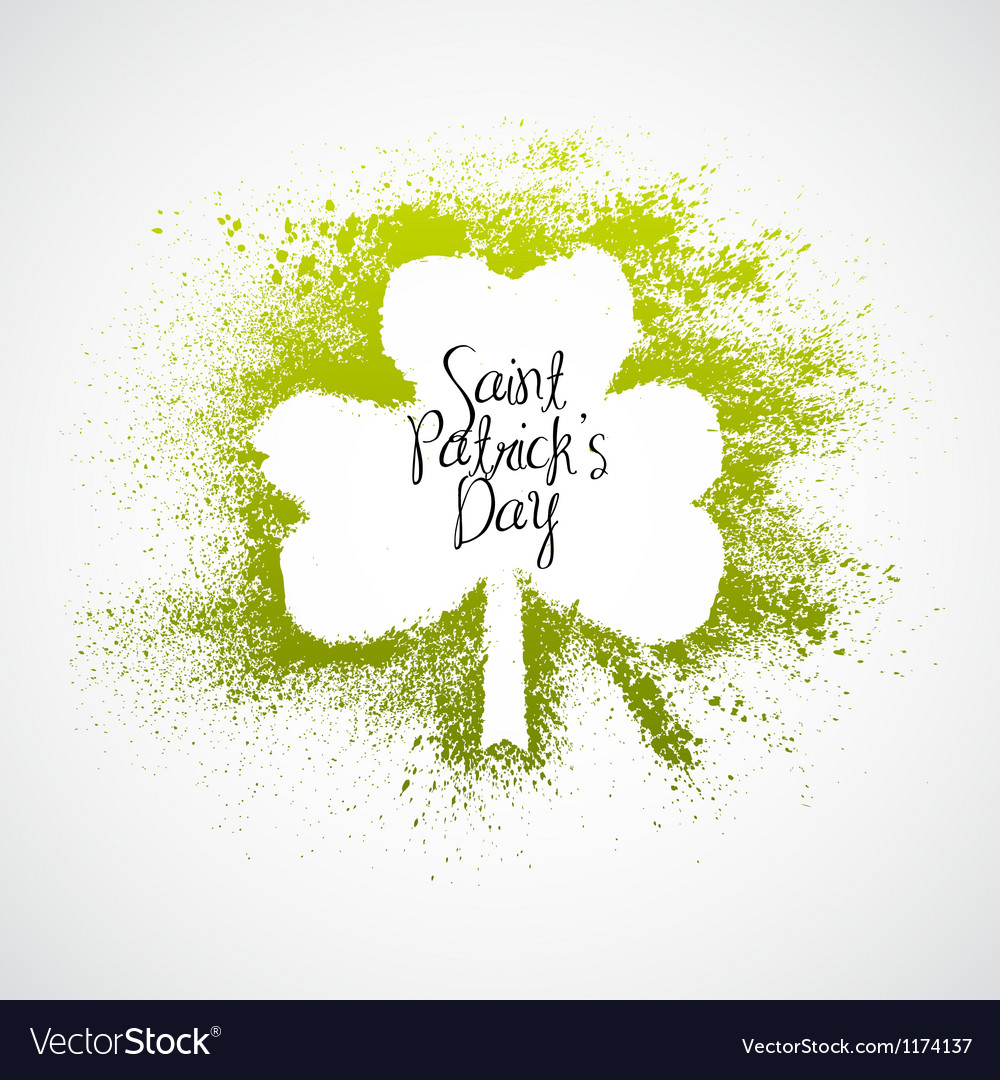 St patrick day grunge frame vector | Price: 1 Credit (USD $1)