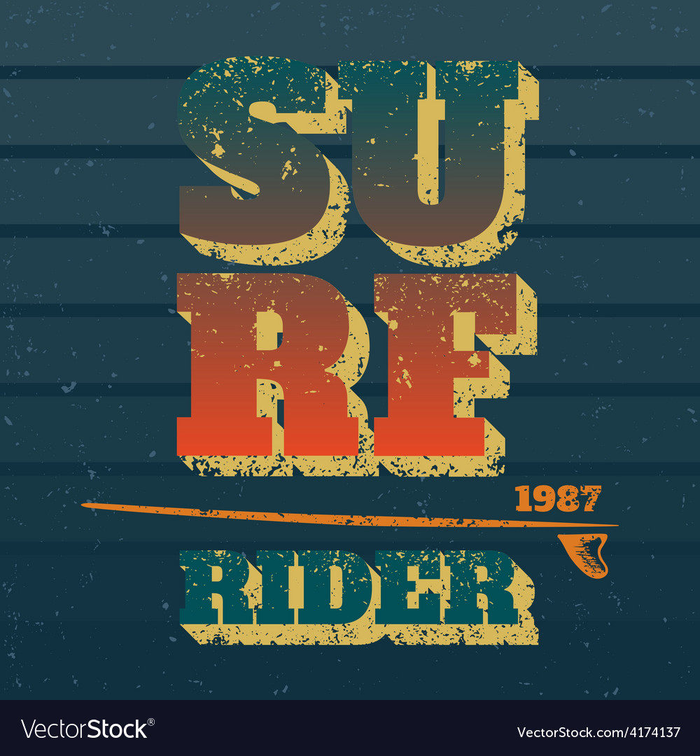 Surf rider vector | Price: 1 Credit (USD $1)