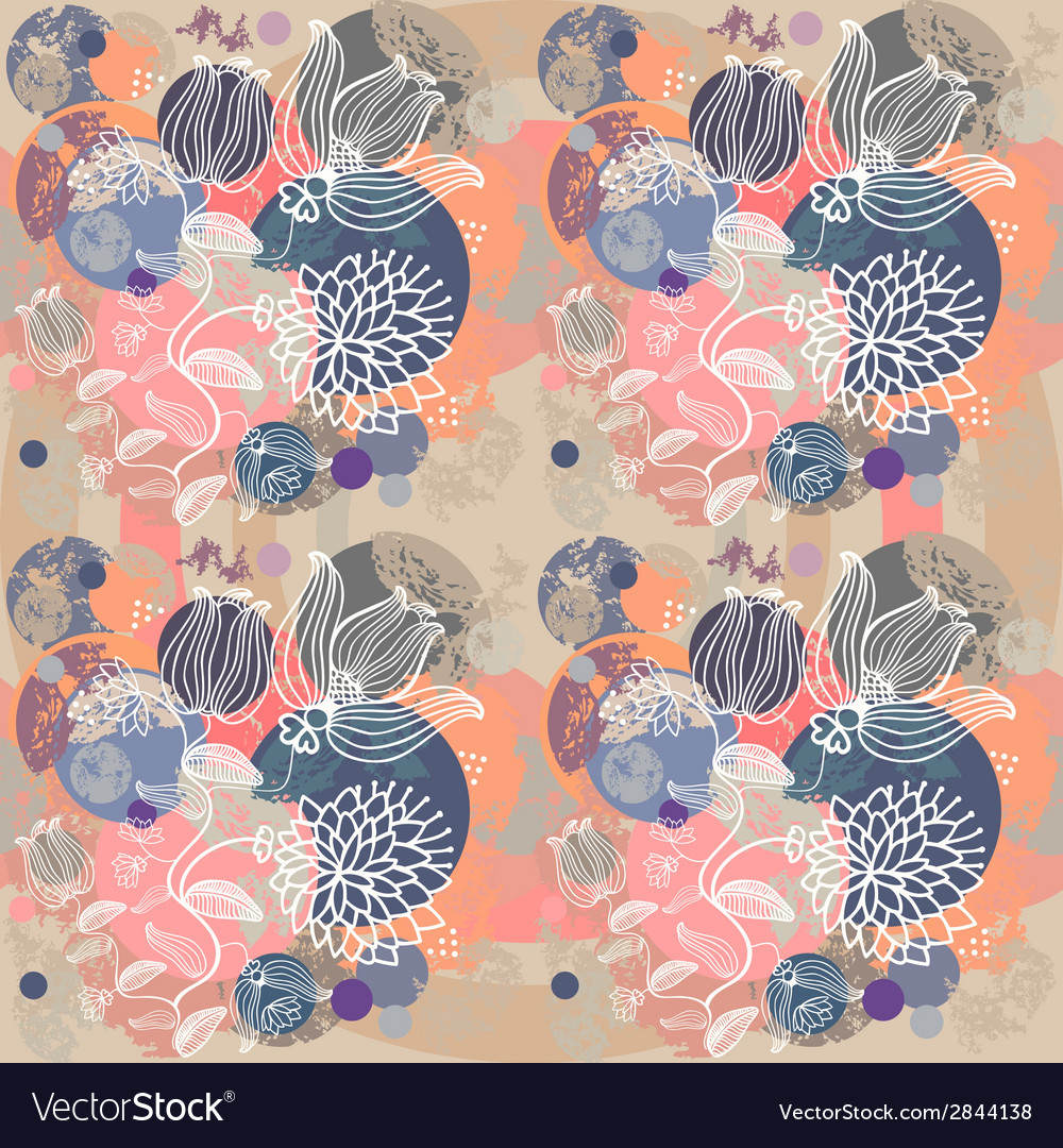 Abstract flowers background vector | Price: 1 Credit (USD $1)