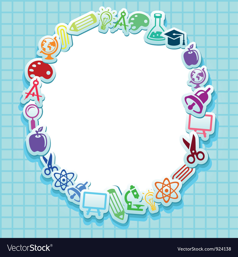 Back to school  card with icons vector