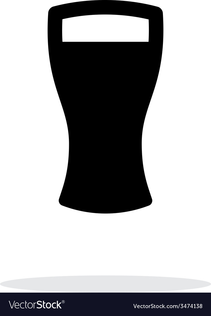 Beer glass simple icon on white background vector | Price: 1 Credit (USD $1)