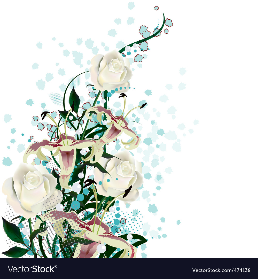 Bridal bouquet vector | Price: 1 Credit (USD $1)