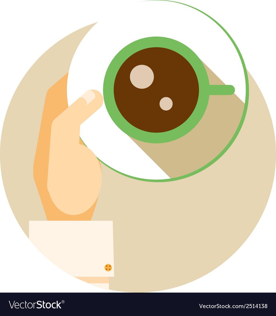 Coffee cup circular icon vector | Price: 1 Credit (USD $1)