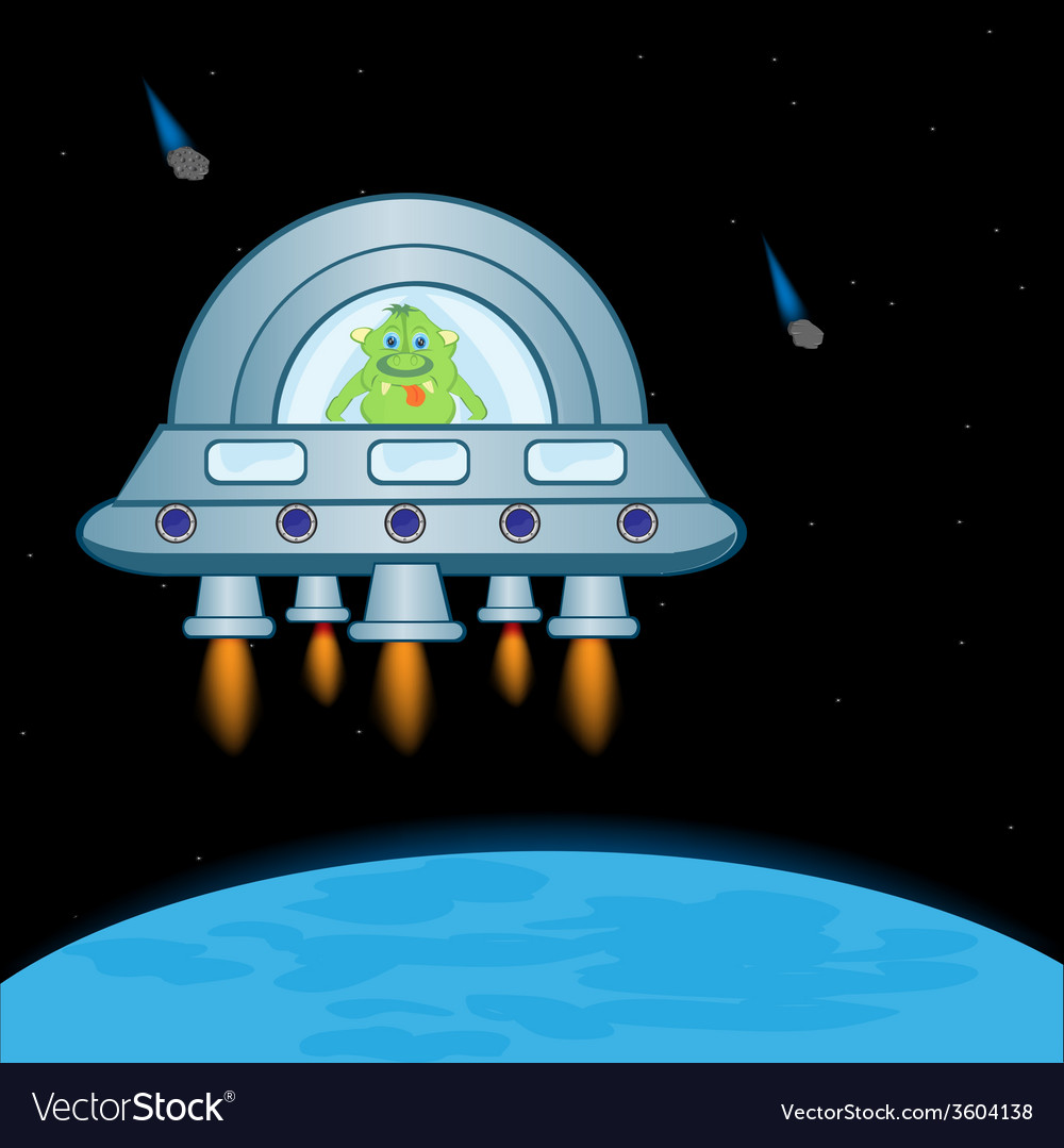 Extraterrestrial spaceship vector | Price: 1 Credit (USD $1)