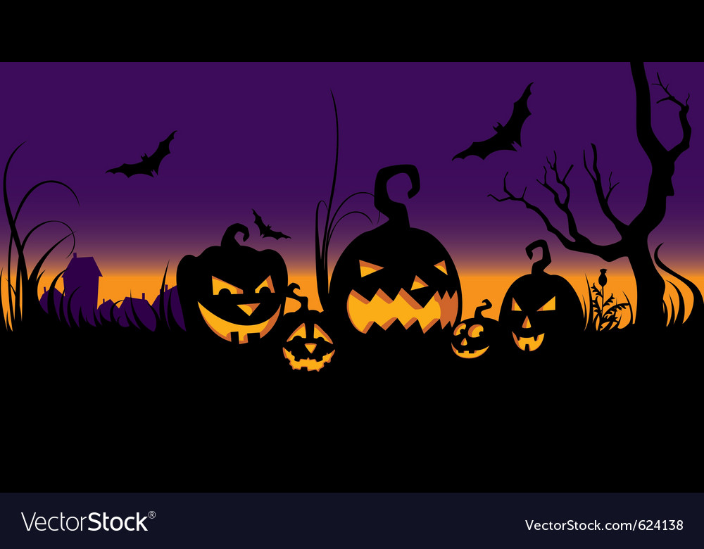 Halloween celebration in the garden vector | Price: 1 Credit (USD $1)