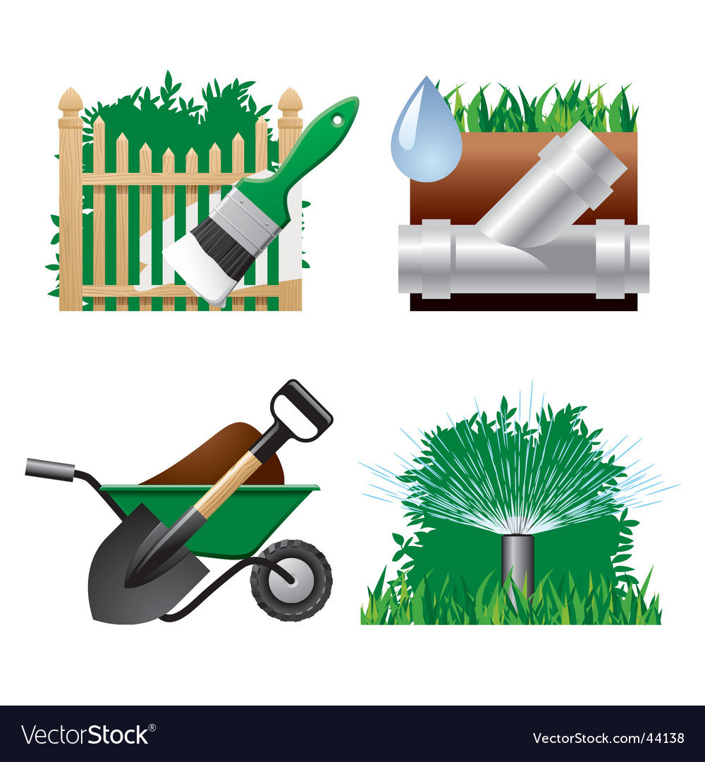 Landscaping icons vector | Price: 1 Credit (USD $1)