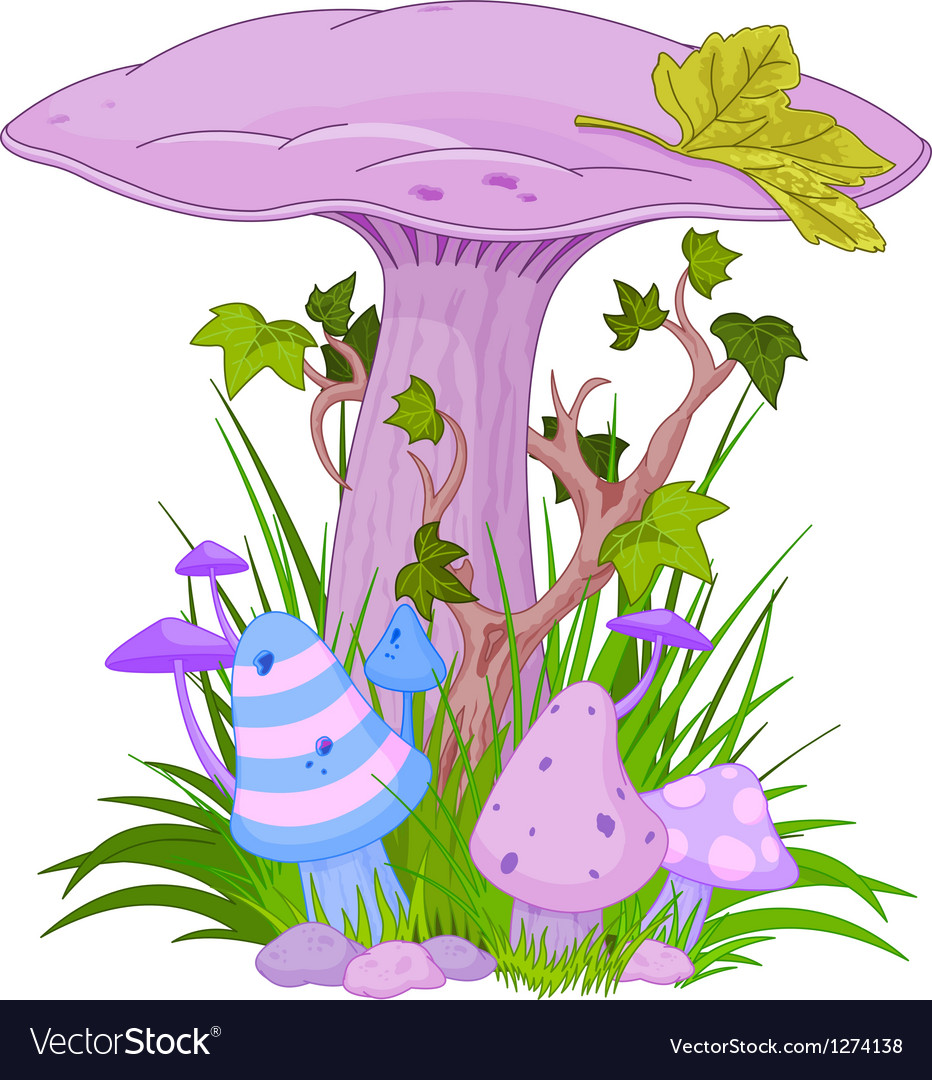 Magic mashroom 001 vector | Price: 1 Credit (USD $1)