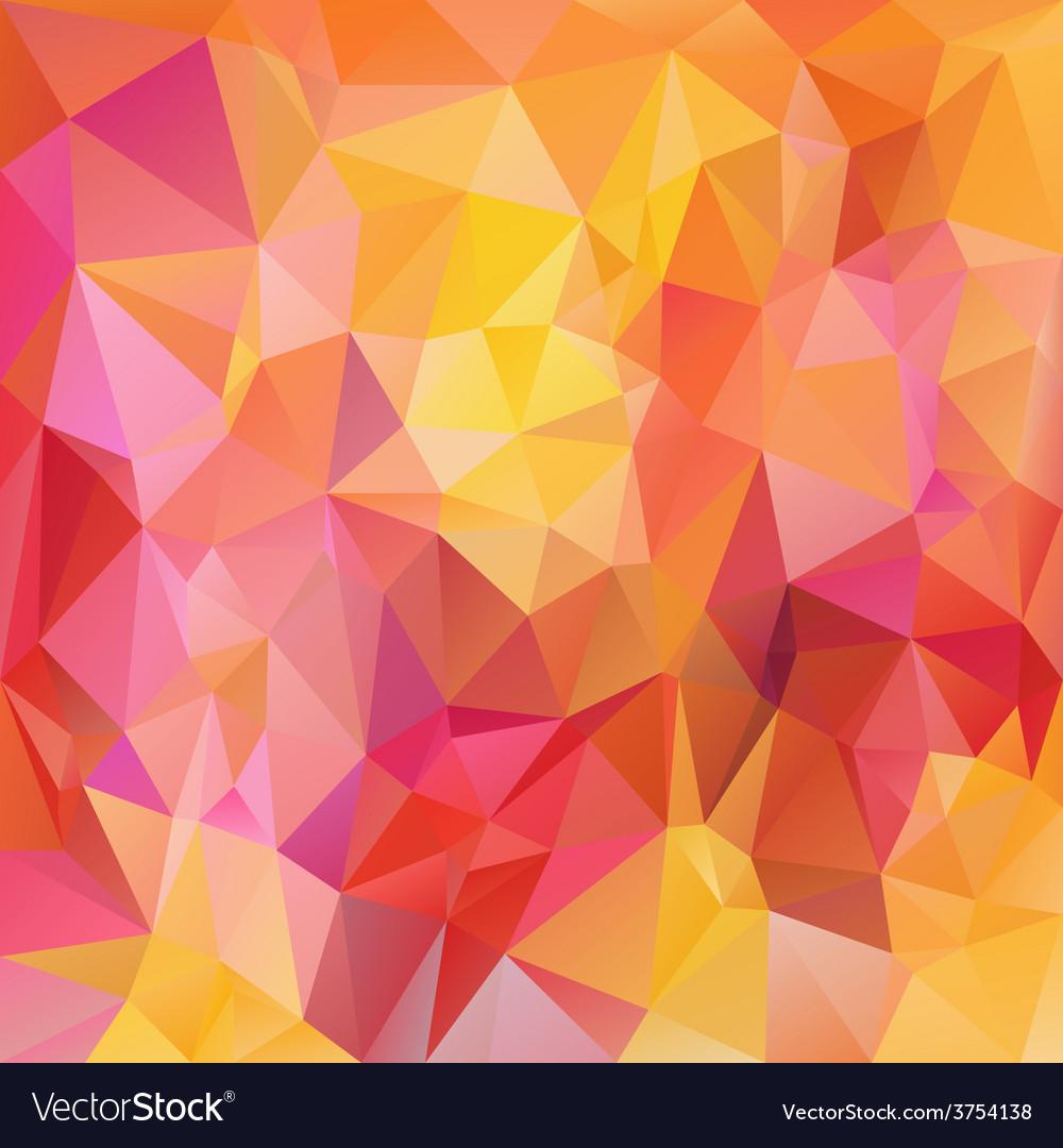 Pink yellow orange polygonal triangular pattern vector | Price: 1 Credit (USD $1)