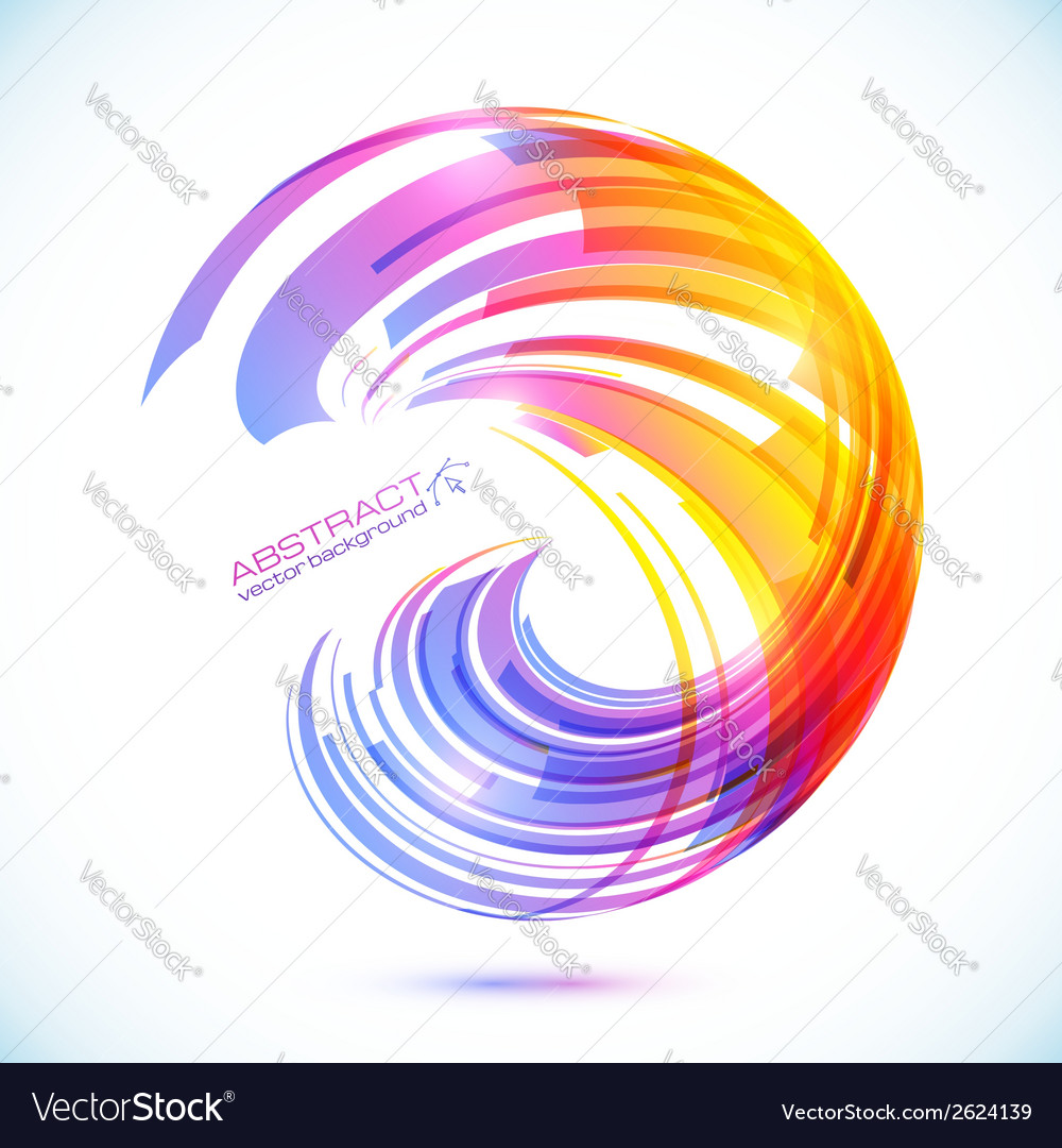 Abstract rainbow stripes shining background vector | Price: 1 Credit (USD $1)