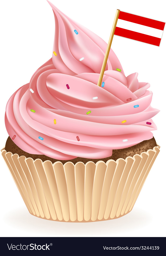 Austrian cupcake vector | Price: 1 Credit (USD $1)