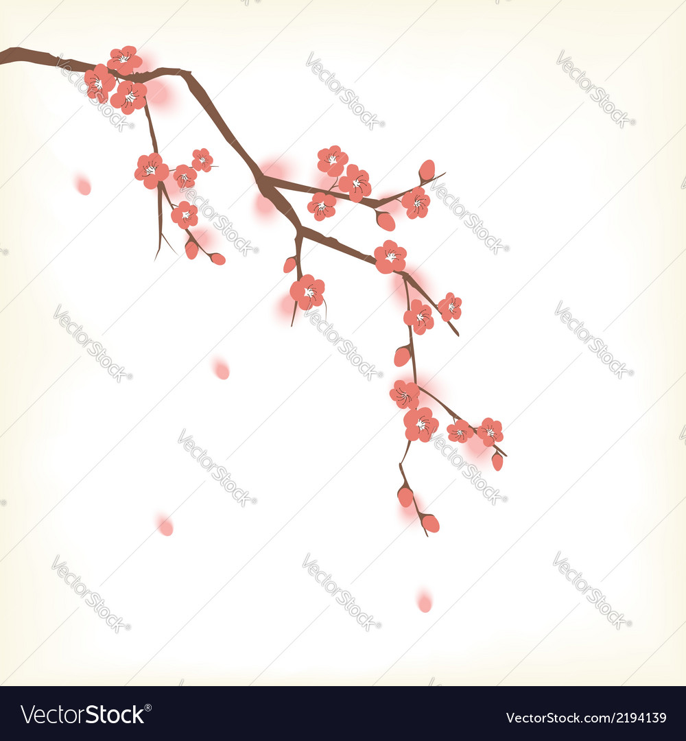 Blooming tree vector | Price: 1 Credit (USD $1)