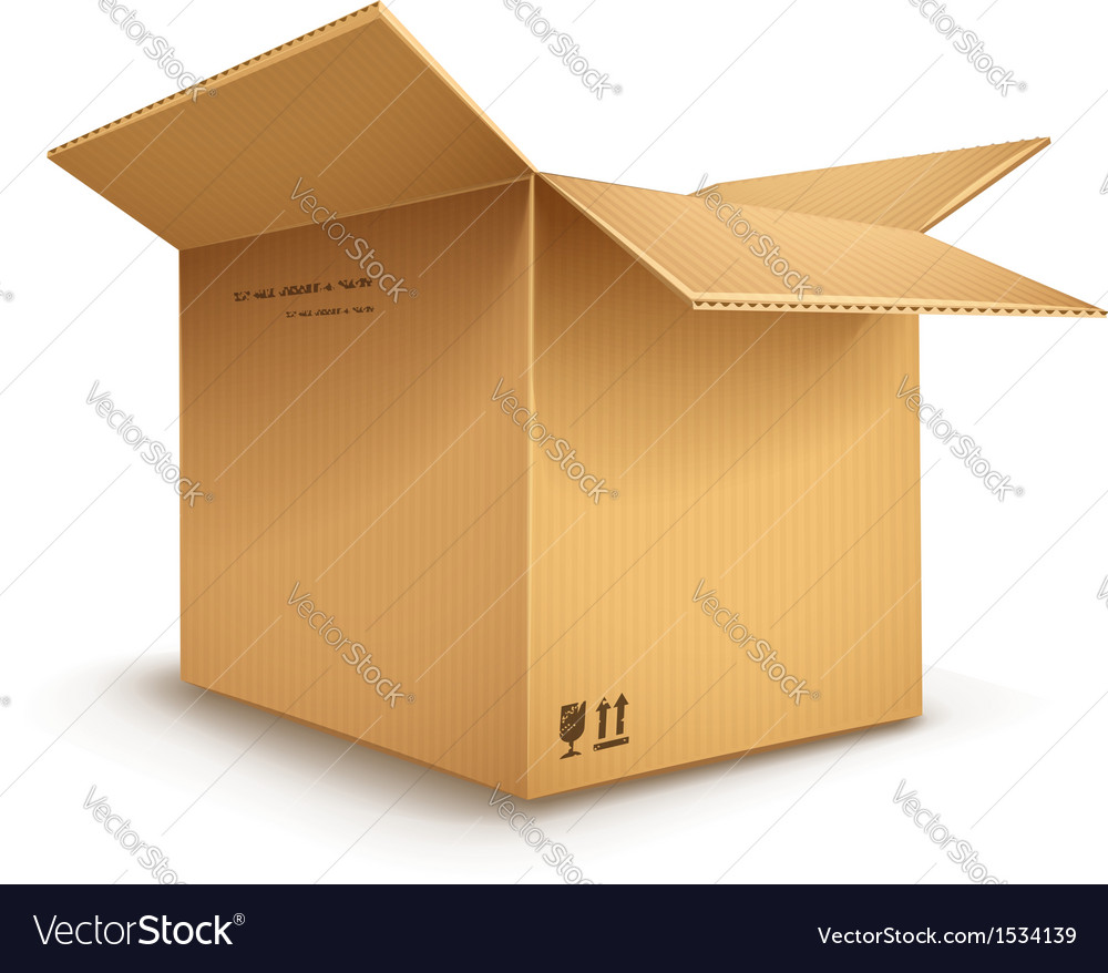 Cardboard box opened vector | Price: 3 Credit (USD $3)