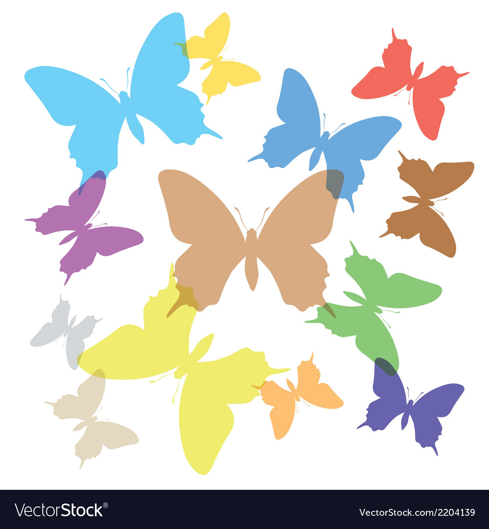 Colorful butterflies vector | Price: 1 Credit (USD $1)