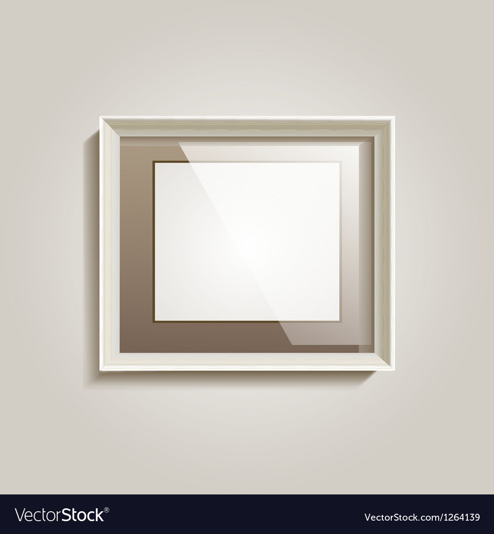 Empty frame on the wall vector | Price: 1 Credit (USD $1)