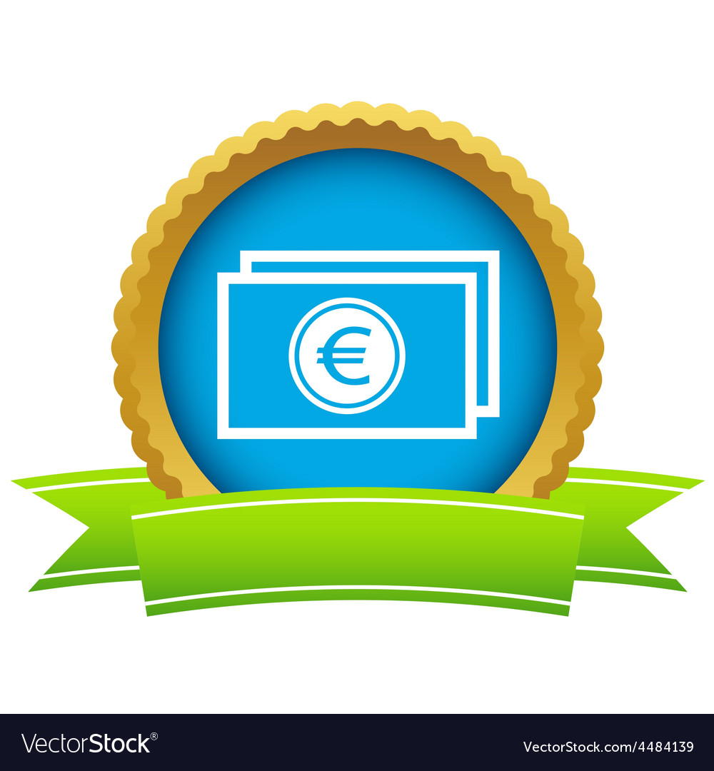 Gold euro buck logo vector | Price: 1 Credit (USD $1)