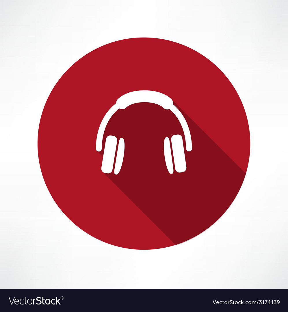 Headphones icon vector | Price: 1 Credit (USD $1)