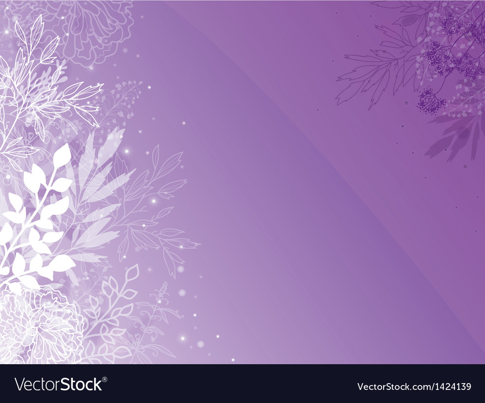Magical silhouette plants horizontal background vector | Price: 1 Credit (USD $1)