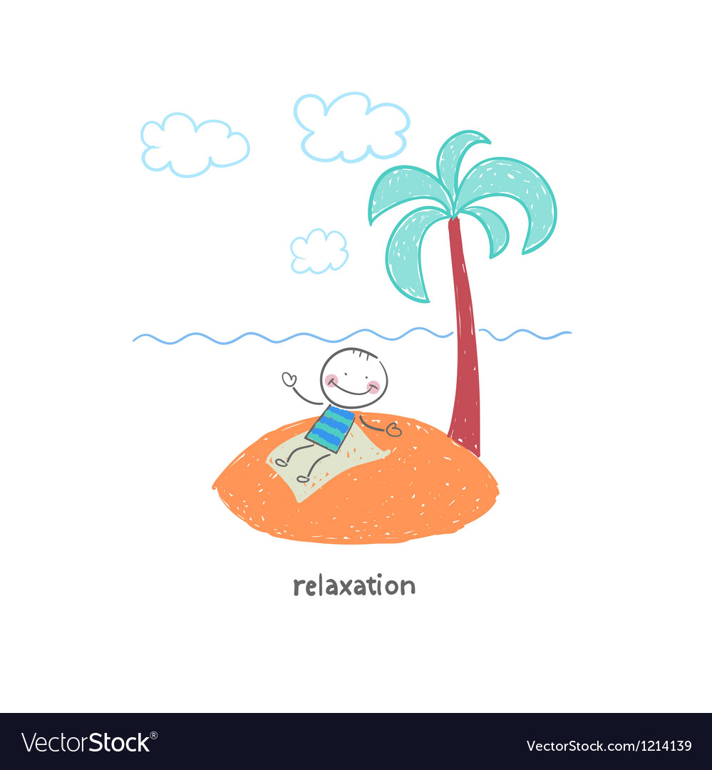 Man on vacation vector | Price: 1 Credit (USD $1)