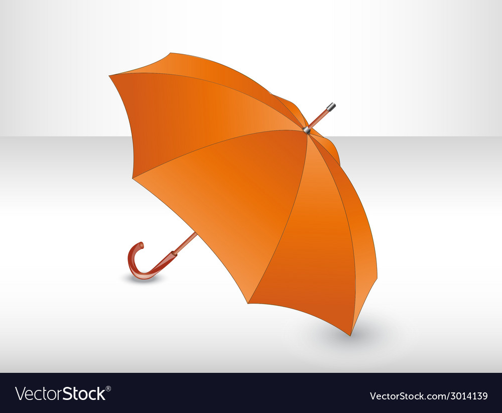 Orange umbrella vector | Price: 1 Credit (USD $1)