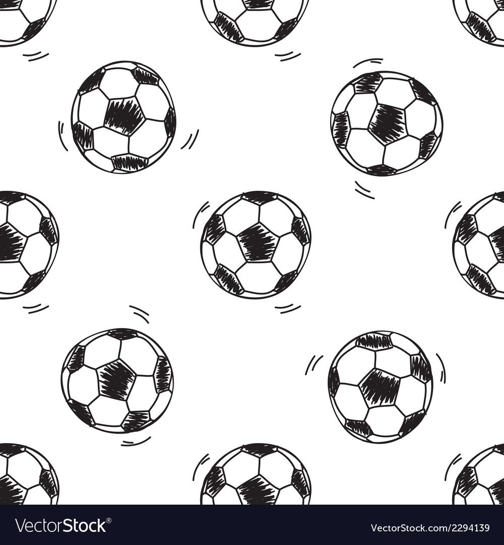 Seamless pattern with soccer balls vector | Price: 1 Credit (USD $1)