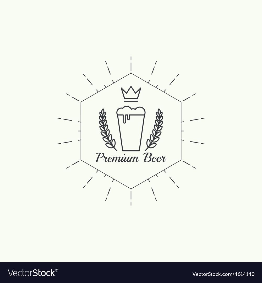 Beer brewery emblems vector | Price: 1 Credit (USD $1)