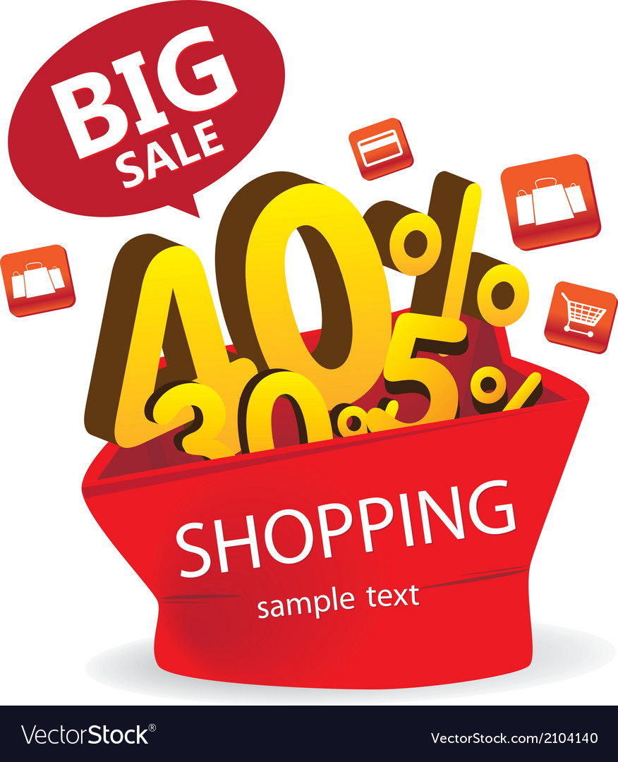 Big sale shopping vector | Price: 1 Credit (USD $1)