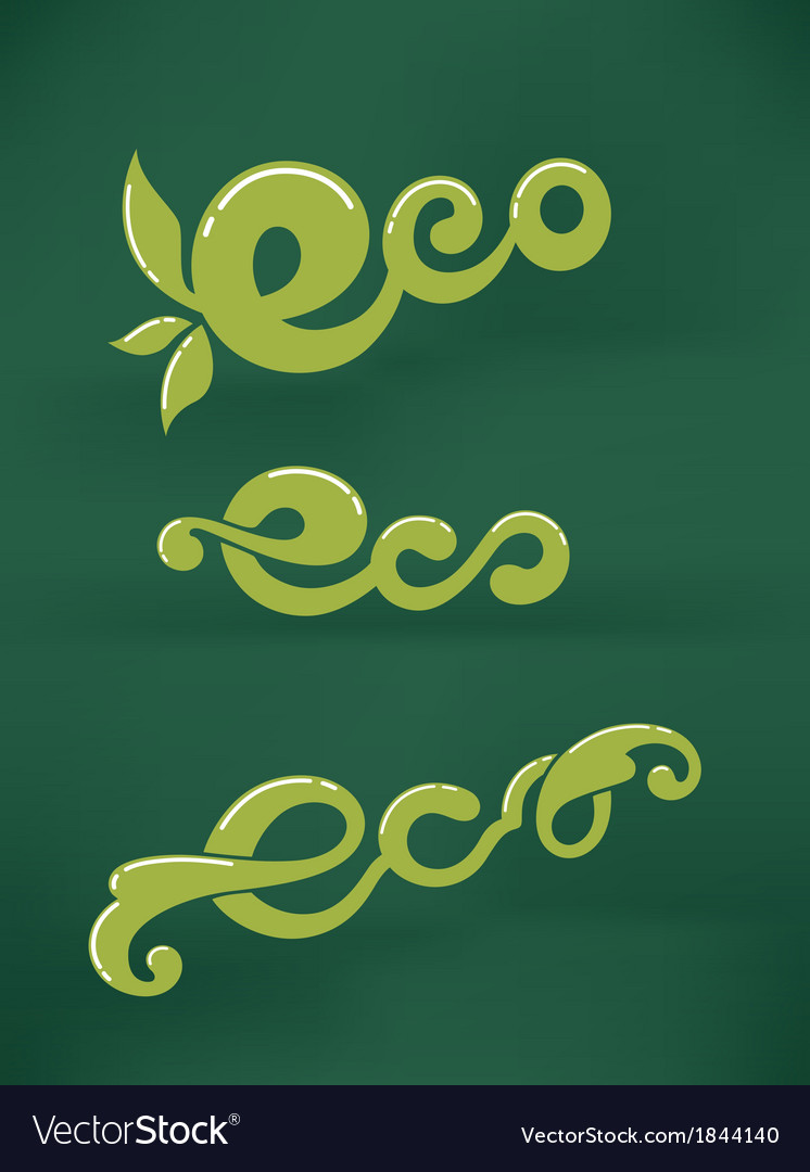Eco signs vector | Price: 1 Credit (USD $1)