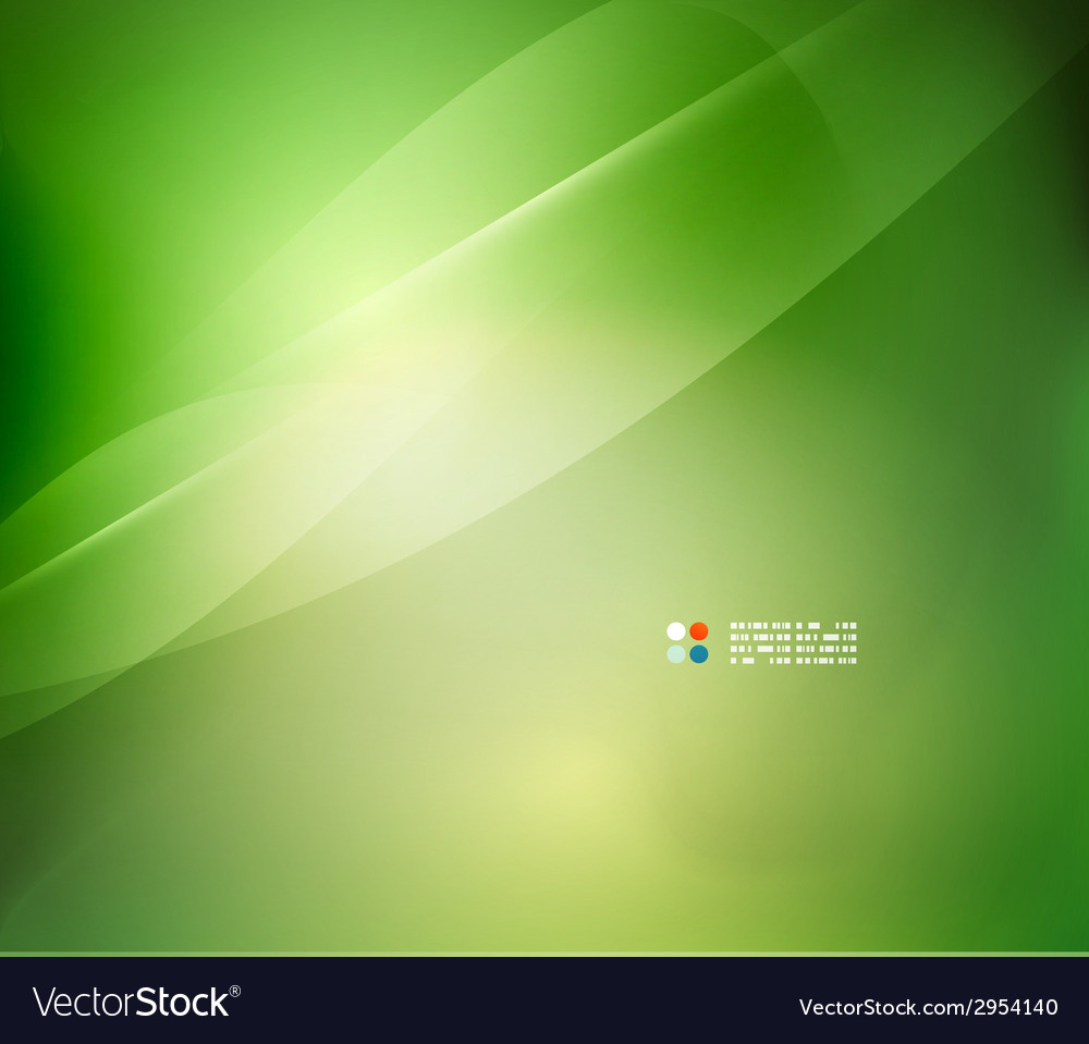 Fresh green blur wave and colors vector | Price: 1 Credit (USD $1)